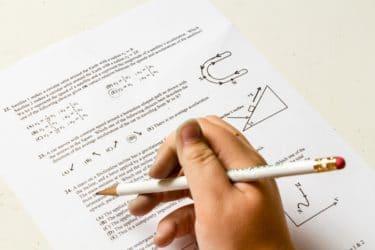 試験に臨む時