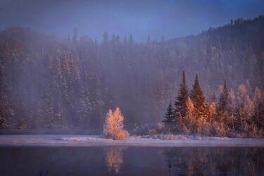 美しき雪山の景色