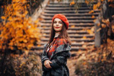 秋の空気に触れる